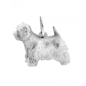 West Highland White Terrier 3-Dimensional in Silber 925